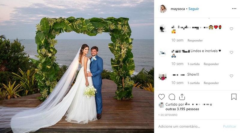 Maysa Mussi e Eduardo Mussi se casaram em setembro, em Itacaré, na Bahia — Foto: Reprodução/Redes Sociais