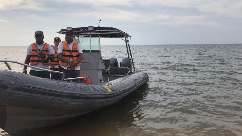 Equipes da Marinha do Brasil integram operação para resgatar piloto desaparecido no Rio Tapajós — Foto: Kamila Andrade/G1