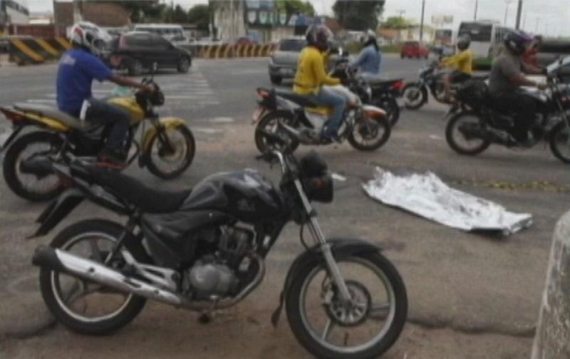 Homicídio registrado no Aurá, em Ananindeua. — Foto: Reprodução / TV Liberal