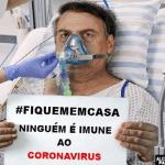 'Ninguém está imune': artista italiano retrata Bolsonaro em hospital com coronavírus