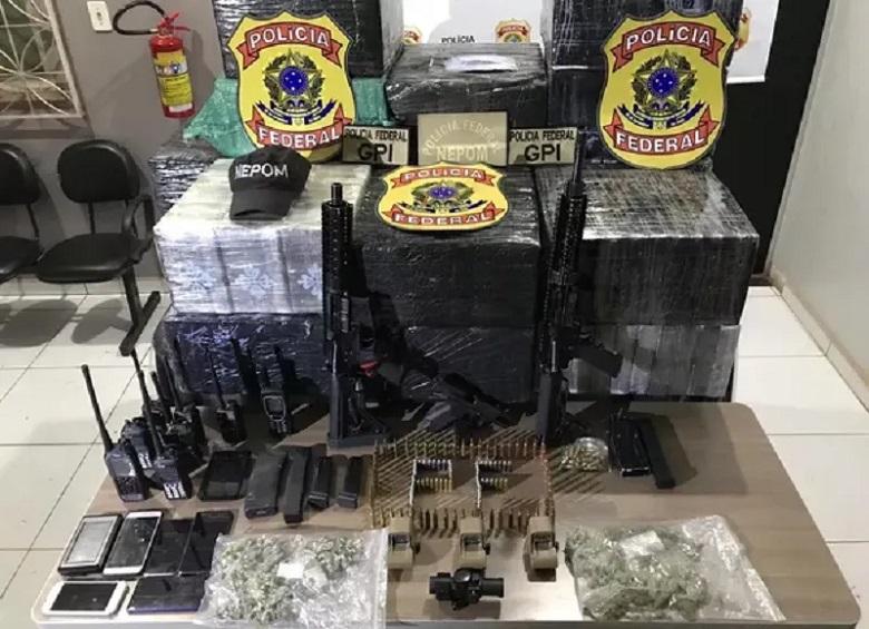 Drogas foram apreendidas assim que aeronave pousou em Itaituba. — Foto: Divulgação/ Polícia Federal