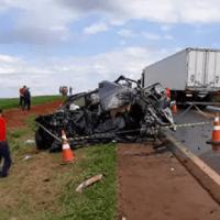 Após matar pai a facadas, filho foge de carro e morre em acidente na BR-163