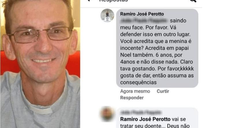 Mensagens postadas pelo padre no Facebook (Foto:Reprodução Facebook)