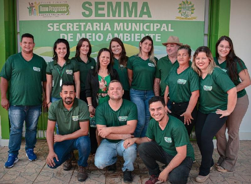 Servidores da Secretária de Meio Ambiente (SEMMA-NP)  em 23 de Setembro de 2020 (Foto:Semma-NP)