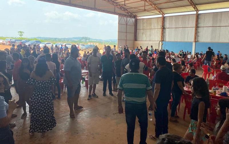 Local do evento no hangar particular no aeroporto (Foto:redes sociais)