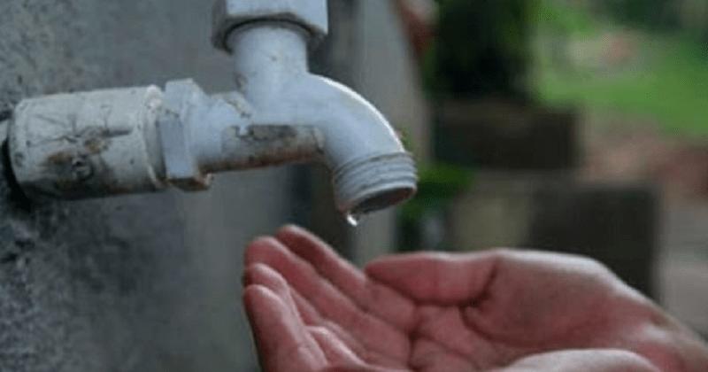 falta de água