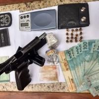 Policia Militar encontra pistola Israelense e droga durante abordagem na Serra do Cachimbo