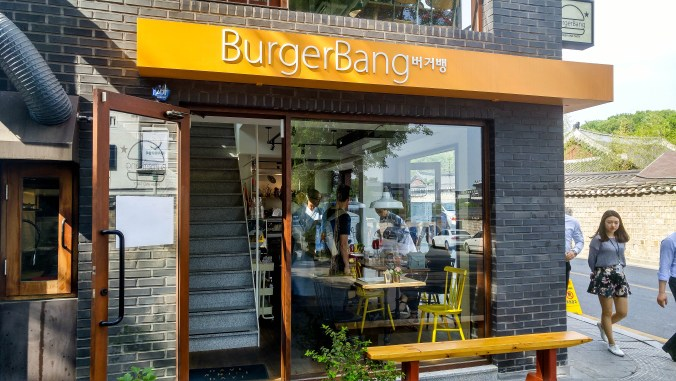 Burger Bang in Bukchon, Seoul.