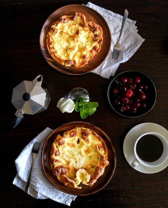 Dutch Baby Pancakes With Cherry Compote | Koreabridge
