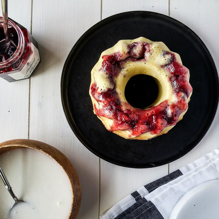 Jam-Filled Bundt Cake