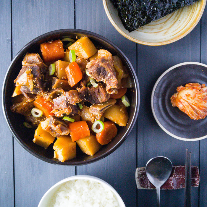Galbi Jjim: Korean Braised Beef Short Ribs