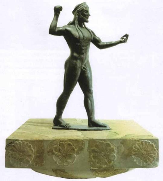 Zeus di Ugento sul capitello