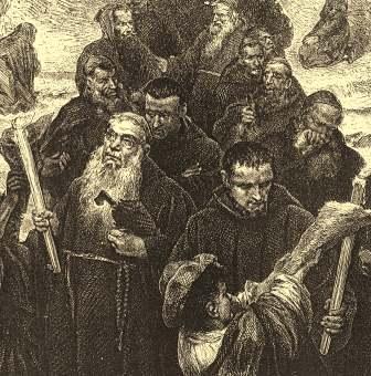 francescani in processione
