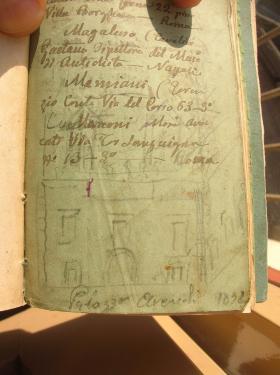 Museo Cavoti Schizzo a matita del palazzo Arcudi oggi demolito