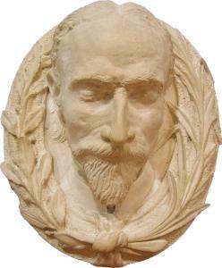 Studio in gesso del volto di G Toma custodito nel Museo  Cavoti - Galatina