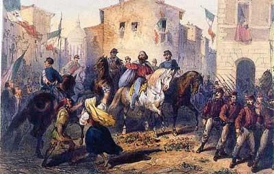 Garibaldi entra a Messina