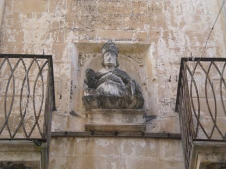 Palazzo Perrone, busto di Sant'Oronzo