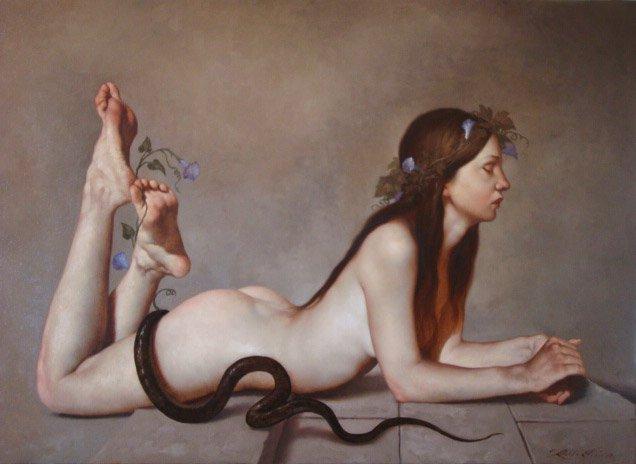 Ninfa, olio su tela, 2010