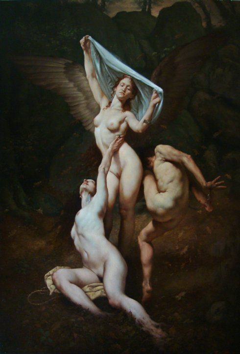 melodia fatale, olio su tela 130x90, 2010