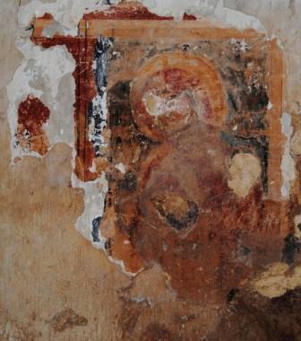 Taurisano, vico Risorgimento, Ruderi della chiesa di san Nicola di Mira, affresco dell'Annunciazione