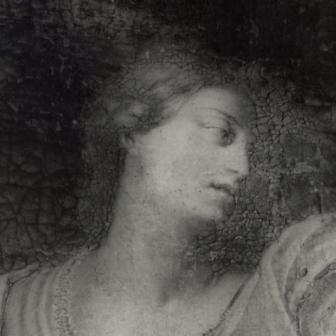 Fig. 2. Ugento, ubicazione sconosciuta, Giovanni Andrea Coppola (attr.), Figura femminile, particolare (dipinto su tela, sec. XVII)