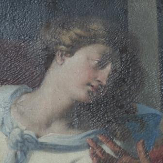 Fig. 3. Gallipoli, Cattedrale, Giovanni Andrea Coppola, Assunta, particolare (olio su tela, sec. XVII)