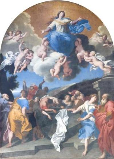 Fig. 4. Gallipoli, Cattedrale, Giovanni Andrea Coppola, Assunta (olio su tela, sec. XVII)