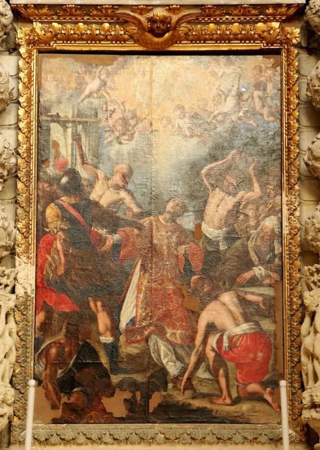 Lecce, chiesa santa Irene, altare di santo Stefano