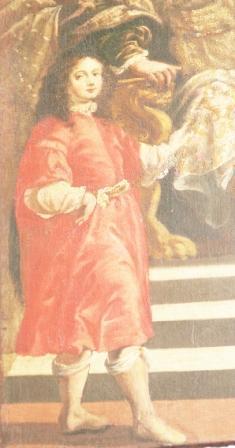 probabile autoritratto di Antonio Verrio da giovane, particolare della fig 1