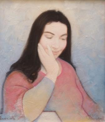 Annunziata (olio su tela) cm. 50 x 60