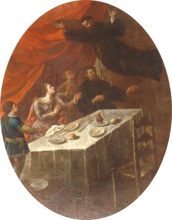 1. S. Lillo (attr.), San Giuseppe da Copertino in estasi davanti alla principessa Maria Savoia. Copertino, Santuario di San Giuseppe da Copertino (ph. S. Tanisi)