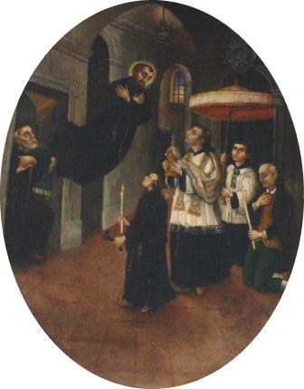 4. Autore ignoto, San Giuseppe da Copertino riceve l'ultima comunione. Copertino, Santuario di San Giuseppe da Copertino (ph. S. Tanisi)