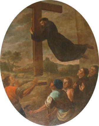 5. S. Lillo (attr.), San Giuseppe da Copertino pianta la croce sul Calvario. Copertino, Santuario di San Giuseppe da Copertino (ph. S. Tanisi)