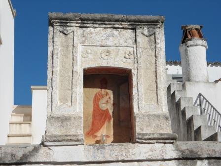 Edicola votiva con San Martino, borgo antico, Tutino
