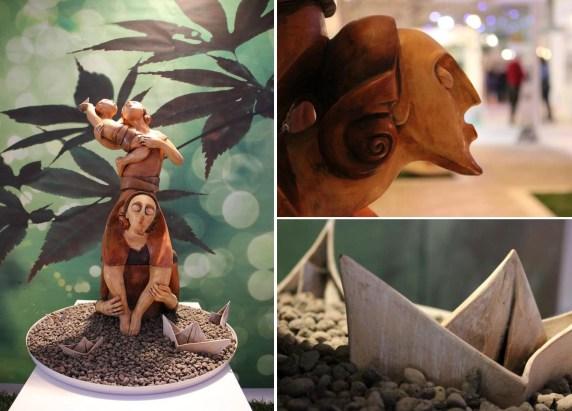 Fuga - 2012 - terracotta policroma - cm 86x40x40