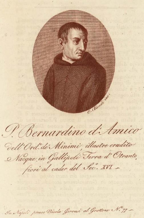 Bernardino Amico di Gallipoli, disegnatore del XVI-XVII secolo