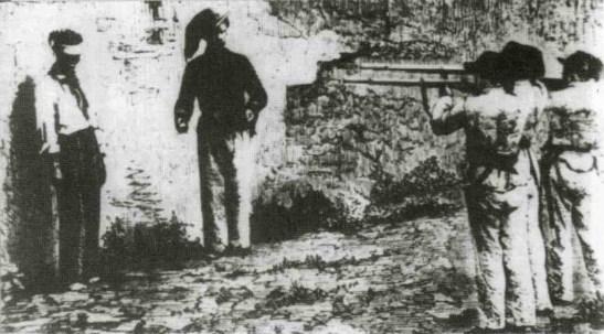 bersaglieri fucilano un brigante