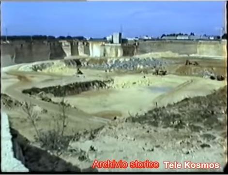 fotogramma tratto da un servizio di una tv locale datato 1991