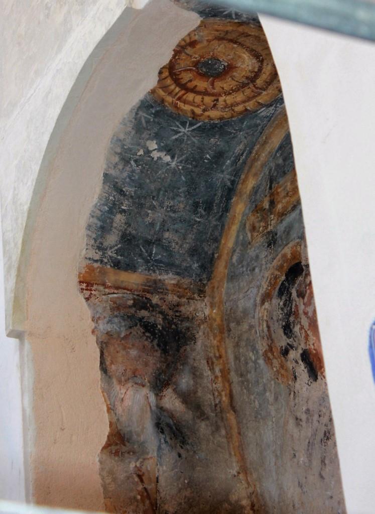 Particolare con il santo di sinistra (ph R.G. Mele)