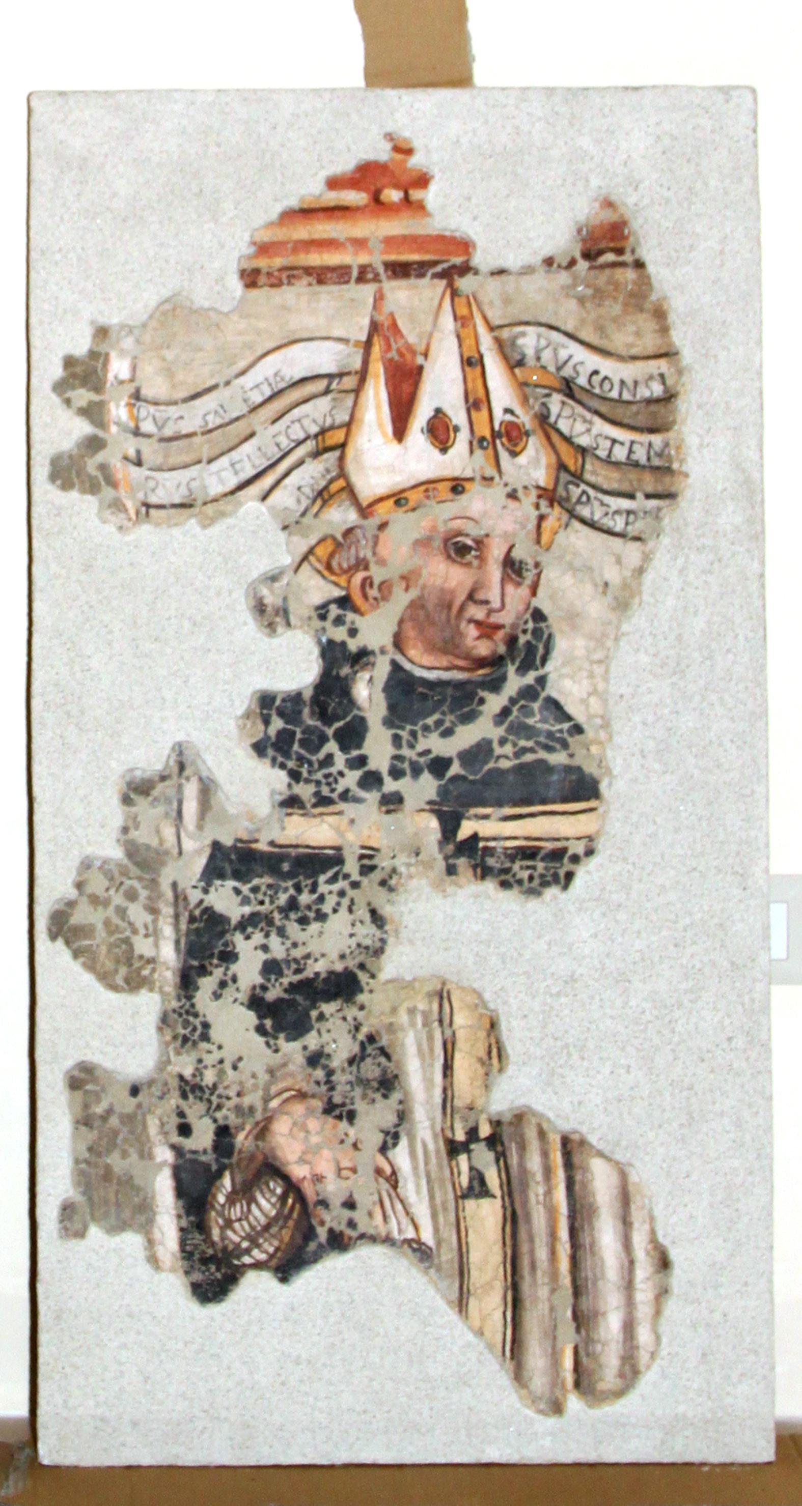 Sopravvive parte degli affreschi di S. Maria dell'Umiltà in Parabita
