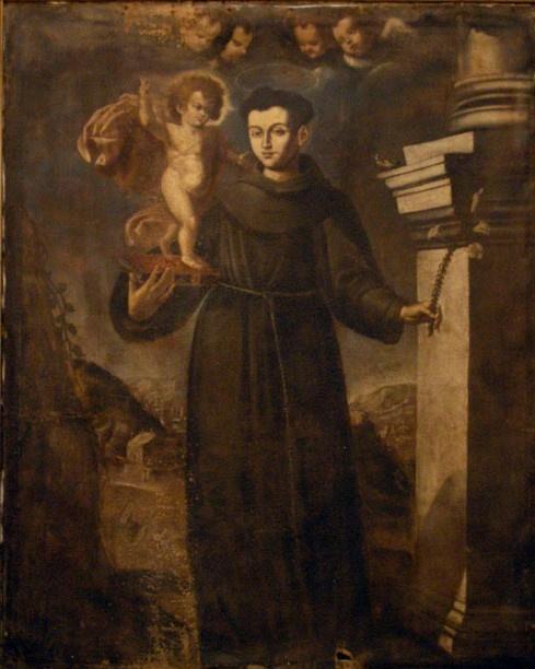 Giovanni Papagiorgio (attribuito), Sant'Antonio da Padova, XVII sec., Latiano, chiesa di Sant'Antonio
