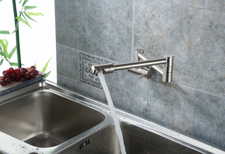 fsamr wall mounted kitchen faucet Annaba Wall Mounted Double Joint Kitchen Sink Faucet