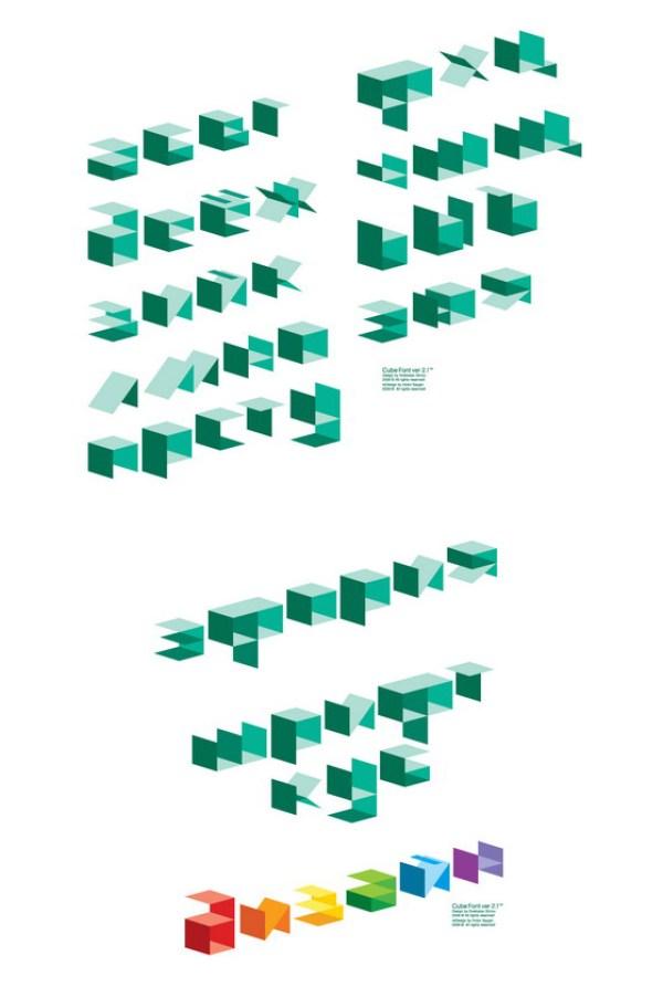 Cube font 4