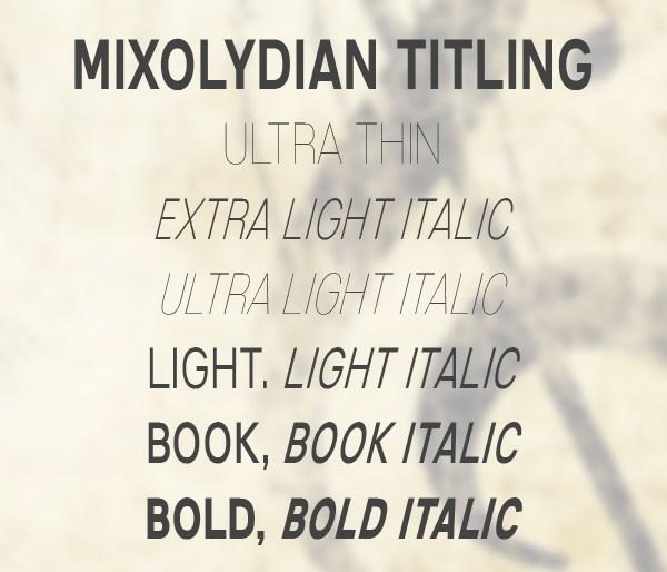 Mixolydian Titling Font