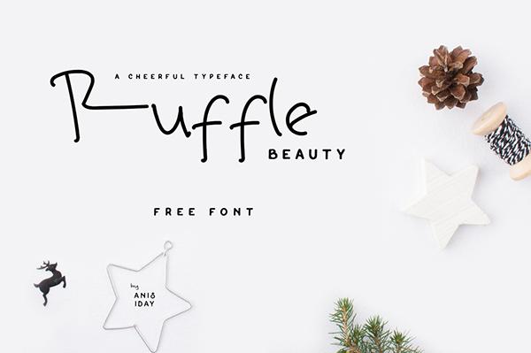Ruffle Beauty Font