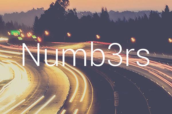 Numb3rs Font