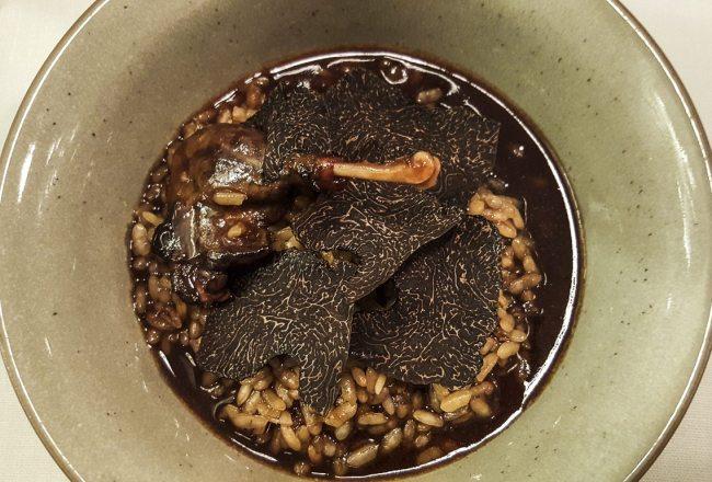 Wild dick and truffle rice, Sergi de Meià