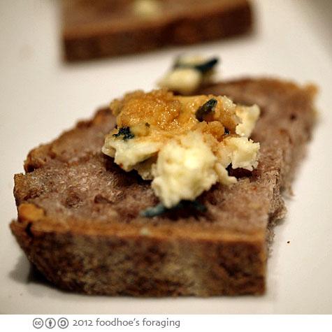 ... sourdough walnut bread drizzled with rich caramel-y buckwheat honey