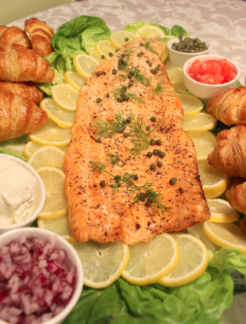 Sear-Roasted Salmon Fillets With Lemon-Rosemary Butter Sauce Recipe ...