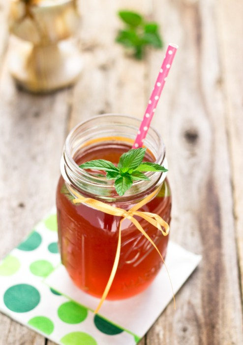 Mint, Blueberry and Pomegranate Water Kefir